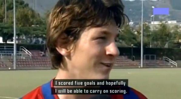 Первое интервью Месси в Барселоне