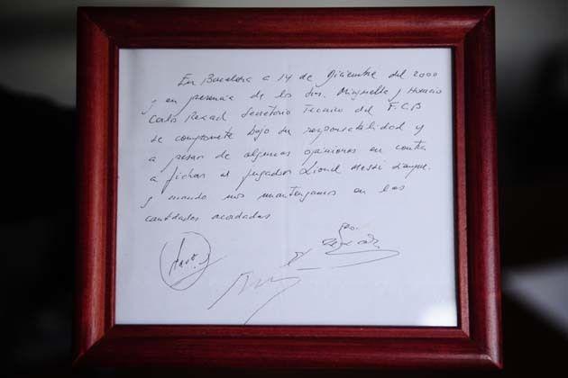 Первый контракт Леонеля Месси в Барселоне