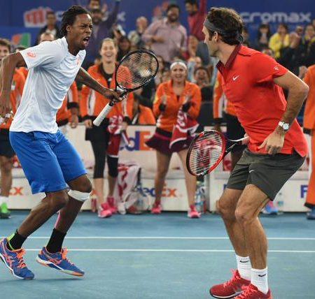Монфис и Федерер повеселили болельщиков прыжком в стиле Брайенов