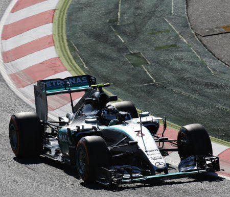 Росберг — лидер первой тренировки в Барселоне. Гран-при Испании
